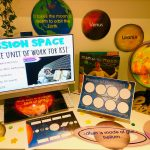 Space Pictures with resources and display elements with preview of PowerPoint